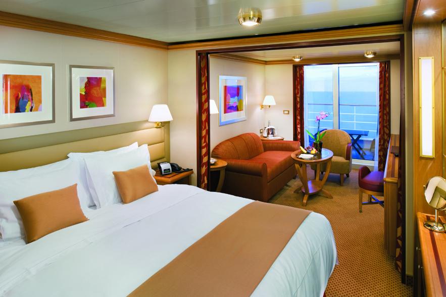 Veranda Suite - Room 801 - Deck 8 Forward Silver Spirit - Silversea Cruises